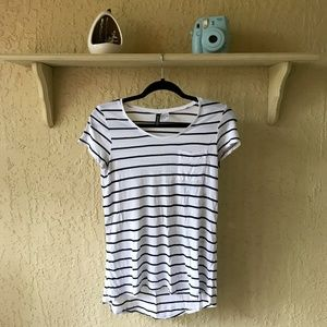 H&M Black & White Striped T-shirt
